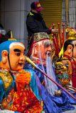 Año Nuevo chino, creencias populares en Taiwán, el desfile del templo del festival de linterna, dios enorme incluso, Imagen de archivo libre de regalías