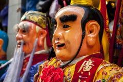 Año Nuevo chino, creencias populares en Taiwán, el desfile del templo del festival de linterna, dios enorme incluso, Fotos de archivo libres de regalías