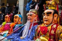 Año Nuevo chino, creencias populares en Taiwán, el desfile del templo del festival de linterna, dios enorme incluso, Imagen de archivo