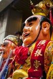 Año Nuevo chino, creencias populares en Taiwán, el desfile del templo del festival de linterna, dios enorme incluso, Fotografía de archivo