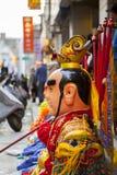 Año Nuevo chino, creencias populares en Taiwán, el desfile del templo del festival de linterna, dios enorme incluso, Fotos de archivo