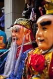 Año Nuevo chino, creencias populares en Taiwán, el desfile del templo del festival de linterna, dios enorme incluso, Foto de archivo libre de regalías