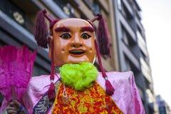 Año Nuevo chino, creencias populares en Taiwán, el desfile del templo del festival de linterna, dios enorme incluso, Fotografía de archivo libre de regalías