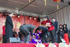 Año Nuevo chino de la ceremonia de inauguración Fotografía de archivo
