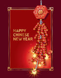 Año Nuevo chino de la galleta del fuego.