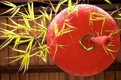 Año Nuevo chino de la linterna tradicional roja Fotos de archivo libres de regalías