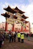Año Nuevo chino de Liverpool - entrada a la ciudad de China Fotos de archivo