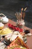 Año Nuevo chino de ofrecimiento sacrificatorio Foto de archivo