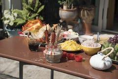Año Nuevo chino de ofrecimiento sacrificatorio Imagen de archivo libre de regalías