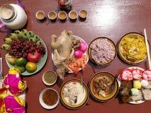 Año Nuevo chino de ofrecimiento sacrificatorio Fotos de archivo