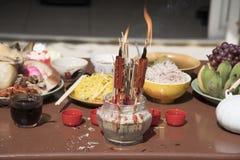 Año Nuevo chino de ofrecimiento sacrificatorio Fotografía de archivo libre de regalías