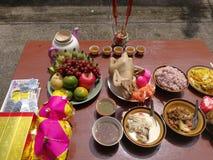 Año Nuevo chino de ofrecimiento sacrificatorio Imágenes de archivo libres de regalías