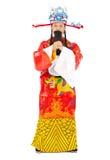 ¡Año Nuevo chino! dios de la riqueza hace un gesto del saludo Imagen de archivo libre de regalías