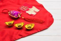 Año Nuevo chino dispuesto de la decoración 2018 Foto de archivo libre de regalías
