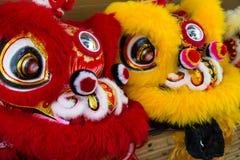 Año Nuevo chino Dragon Costumes Imagen de archivo libre de regalías