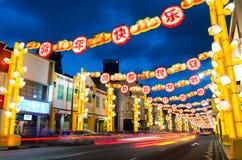 Año Nuevo chino en el ` s Chinatown de Singapur Foto de archivo