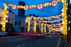 Año Nuevo chino en el ` s Chinatown de Singapur Imagenes de archivo