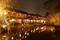 Año Nuevo chino en la calle vieja de Jinli Imágenes de archivo libres de regalías