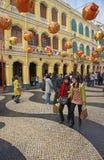 Año Nuevo chino en Macao Foto de archivo libre de regalías