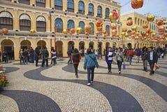 Año Nuevo chino en Macao Imágenes de archivo libres de regalías