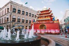 Año Nuevo chino en Macao China Fotos de archivo