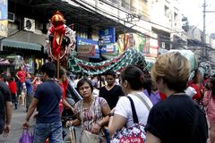 Año Nuevo chino en Manila Chinatown foto de archivo libre de regalías