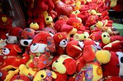 Año Nuevo chino en Shangai Imagen de archivo libre de regalías