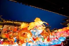 Año Nuevo chino en Shangai, año del caballo. Foto de archivo