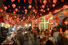 Año Nuevo chino en Tailandia Imagen de archivo libre de regalías