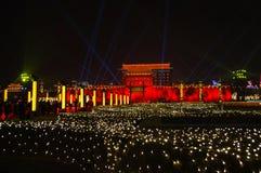 Año Nuevo chino 2018 en Xian Imágenes de archivo libres de regalías