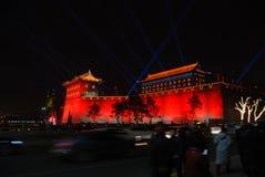 Año Nuevo chino 2018 en Xian Imagen de archivo libre de regalías