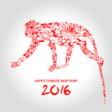 Año Nuevo chino feliz, año de mono, vector animal