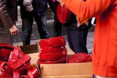 Año Nuevo chino, festival de linterna, aduanas populares de Taiwán, bendiciendo ceremonia y desfile Fotografía de archivo