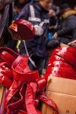 Año Nuevo chino, festival de linterna, aduanas populares de Taiwán, bendiciendo ceremonia y desfile Imágenes de archivo libres de regalías