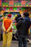 Año Nuevo chino, festival de linterna, aduanas populares taiwanesas, bendiciendo rituales y excursiones, espectáculo de marioneta Fotografía de archivo