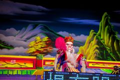 Año Nuevo chino, festival de linterna, aduanas populares taiwanesas, bendiciendo rituales y excursiones, espectáculo de marioneta Fotos de archivo