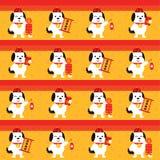 Año Nuevo chino inconsútil celebre el año de perro libre illustration