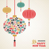 Año Nuevo chino, lámpara asiática de las linternas Fotografía de archivo libre de regalías