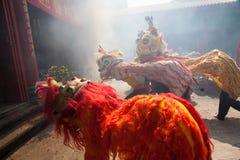 Año Nuevo chino, la danza de león Fotos de archivo