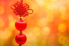 Año Nuevo chino, lingotes chinos del oro y st del chino tradicional Foto de archivo