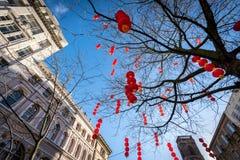 Año Nuevo chino Manchester Inglaterra Foto de archivo