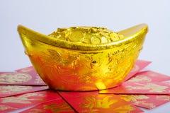 Año Nuevo chino, monedas de oro Imagen de archivo libre de regalías
