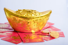 Año Nuevo chino, monedas de oro Imágenes de archivo libres de regalías