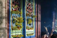 Año Nuevo chino n de PENANG, MALASIA la diosa del templo de la misericordia Fotografía de archivo libre de regalías