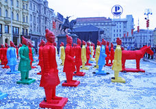 Año Nuevo chino 4713o, 5, Zagreb, Croacia Fotografía de archivo