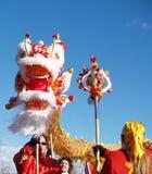 Año Nuevo chino Performace Fotos de archivo libres de regalías