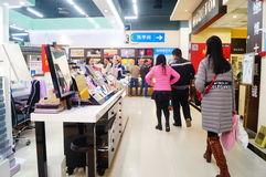 Año Nuevo chino que se acerca, el paisaje del interior de la tienda Imagenes de archivo