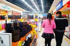Año Nuevo chino que se acerca, el paisaje del interior de la tienda Imagen de archivo libre de regalías
