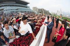 Año Nuevo chino Raceday en Hong Kong Imagenes de archivo