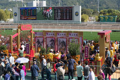 Año Nuevo chino Raceday en Hong Kong Foto de archivo libre de regalías